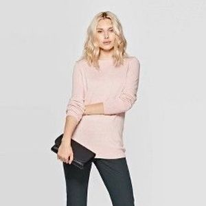 A new day blush pink long sleeve tee